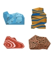 Gemstones stones vector image vector image
