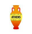 greek amphora image isolated on white vector image vector image
