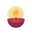 happy diwali candle traditional icon vector image vector image
