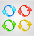 icon refresh color set vector image vector image