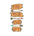 indian arrows with text vector image vector image