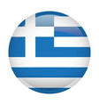 isolated flag of greece vector image vector image