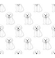 labrador golden retriever dog seamless on white vector image vector image