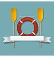 Lifebuoy and paddles vector image vector image