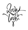 love is love lettering vector image vector image