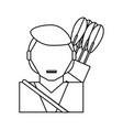 man with arrows vector image vector image