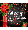 Merry christmas lettering greeting card