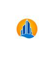 modern building cityscape logo vector image vector image