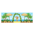 open wedding ceremony on tropical beach resort vector image vector image