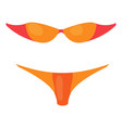 orange woman swimsuit bikini icon cartoon style vector image