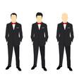 portrait a successful businessman vector image