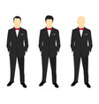 portrait of a successful businessman vector image vector image