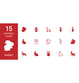 rabbit icons vector image vector image