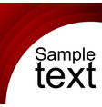 red abstract template for card or banner
