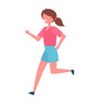 running girl color icon female vector image vector image