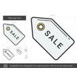 Sale tag line icon