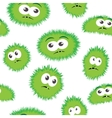 Seamless pattern bacteria with monster face vector image