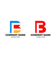 set of initial bf letter logo template design vector image vector image