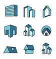 Set of real estate house logo designs