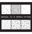 Set of universal fashion geometric seamless vector image