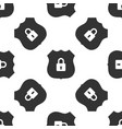 shield security icon seamless pattern vector image vector image
