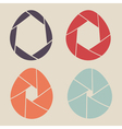 shutter eggs icon set vector image vector image
