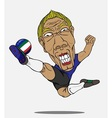 soccer player Italy vector image vector image