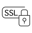 ssl security thin line icon certificate protected vector image vector image