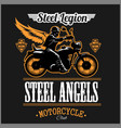 stell angels - custom motorcycles club badge or vector image