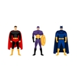 Superhero costumes isolated set vector image vector image