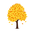 Tree with yellow leaves vector image vector image
