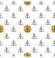 triangles and golden circles sequins seamless vector image