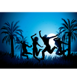 tropical beach dancers vector image vector image