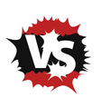 Versus sign symbol vector image vector image