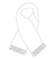 White winter scarf outline drawings vector image