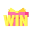 Win text vector image