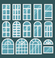 windows set with different design of frames vector image vector image
