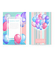 bright balloon background vector image