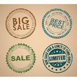 Set of old round stamps for sale vector image
