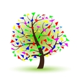 silhouette of a tree on a white background vector image