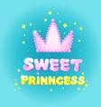 sweet princess birthday greeting card vector image