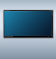 tft tv hanging on the wall background vector image