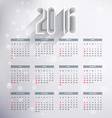 2016 calender design vector image vector image
