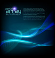 3d wave particle array background vector image