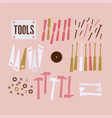abstract background with tools vector image