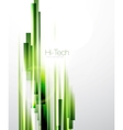 Abstract green lines background vector image vector image