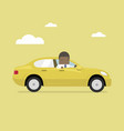 african businessman rides in the car vector image vector image