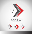 arrow forward concept logo icon design vector image vector image