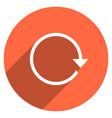 arrow sign reset icon circle button vector image vector image