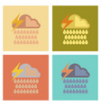 assembly flat icons nature thunderstorm rain cloud vector image vector image